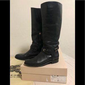 Burberry Bristol Boots Black Bridal Leather